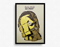 Dr. Wookie & Mr. Droid – Artprint