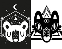 Bear & Wolf T-shirt Designs