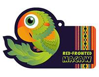 Macaw Character & Hangtag Design