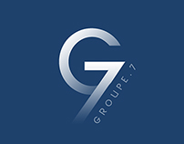 """""""Groupe.7"""" logo and exemples"""