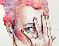 """• """"curiosity"""" illustration • watercolors on paper"""