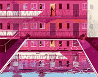 personal illustration of my apartment building
