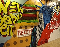 Beefy's New York Grill Mural