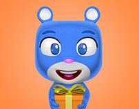 Cute Bear Mascot Character