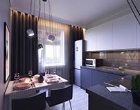 Studio Apartment for Girl Design by LOOK Studio