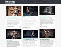 Blog Full-Sized Page - Gym WordPress Theme