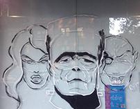 Next Halloween Mural.