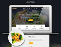 Eat and Fit - Diet Catering Website Concept