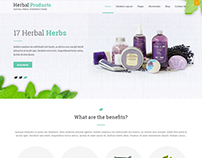 Herbal Products and Store WordPress Theme