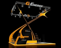 "Exhibition stand of ""G-Energy"" for ""Gazprom neft"""
