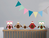 Sitting Birds with bunting £24.99