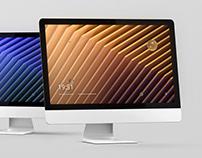 iMac Desktop Screen Mockup