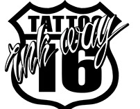 logo for a tattoo studio INK WAY 16
