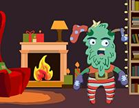Christmas message animation