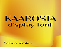 Kaarosta demo display font