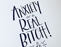 Anxiety –Lettering Project