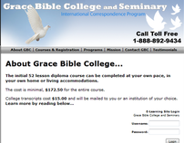 Grace Bible College Redesign