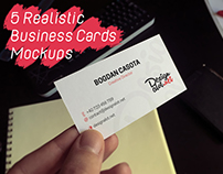 5 Realistic Business Cards Mockups