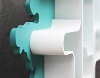 """modular shelving unit - """"Vjunok/Bindweed"""" series"""