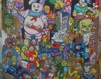Cartoon City-Painting