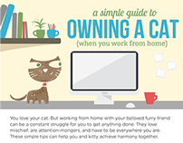 How to Work from Home with a Cat Infographic