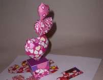 LOVE cactus paper toy set