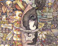 Mexican Fantasy - Watercolor series 2011.