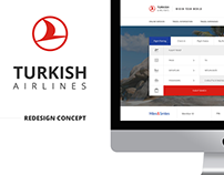 Turkish Airlines Website Redesign Concept