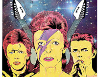 Póster tributo a David Bowie