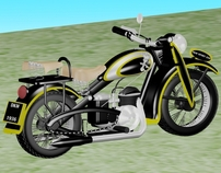 Motocycle - 3d Modelling - DKW Sport 250 1936