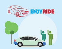 ENJYRIDE - Carpooling Web Application UI/UX