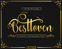 Besttoven Script - a Luxury Calligraphy Font