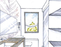 Interior Hand-Drawn Renderings