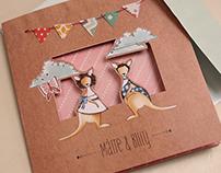 Kangaroo Wedding Invite