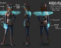 Character Designs for Superhero Web Comic