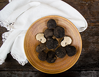 Food styling for a premium truffle brand