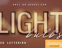 FREE Light Bulbs Lettering