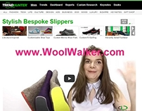 WoolWalker.com Felt Slippers on TRENDHUNTER