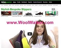WoolWalker.com Felt Slippers on TRENDHUNTER