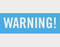 """Warning"" Poster"