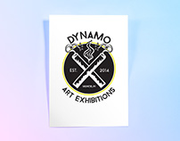DYNAMO: Art Exhibitions. Logo Design and ODDITY Ad