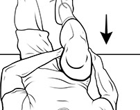 Line art: stretching diagram