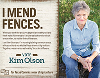 Print and outdoor for Kim Olson 2018 election campaign