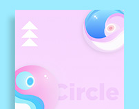 Poster with circle