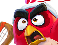 Angry Birds Tennis Character Designs