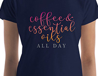 Coffee & Essential Oils Tshirt Design