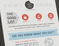 The Good for Food concept