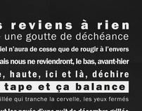 """""""Reviens"""" - Franklin Gothic Typo poster poetic"""