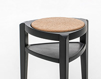 A. RUSH stool_side table