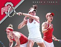 Ohio State Women's Tennis Schedule Poster 2017
